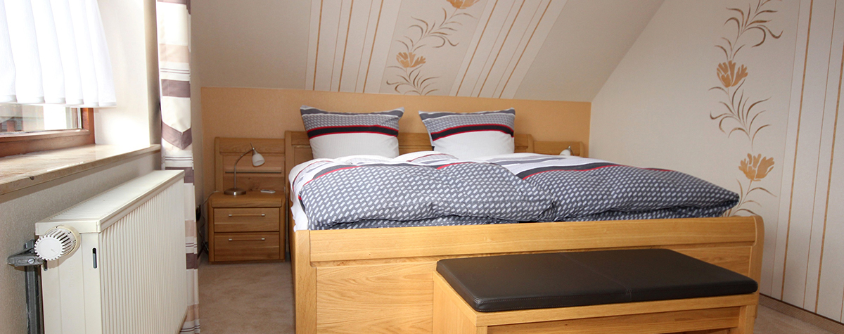The bedroom of holiday apartment 2